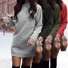 Round neck, Fashion, sweater dress, Fall dress