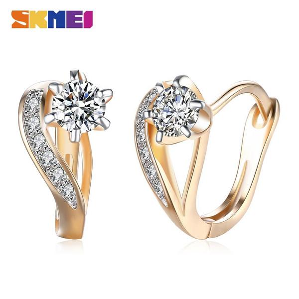 diamondearing, DIAMOND, Romantic, gold