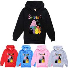 hooded, barbapapa, Sleeve, pullover sweater