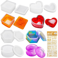 Box, Heart, diyjewelryboxmold, squarestorageboxmold