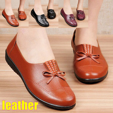 non-slip, Flats & Oxfords, leather shoes, leather