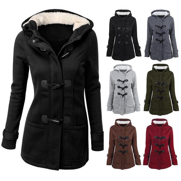 thickwarmcoat, woolen coat, Plus Size, womenwarmcoat