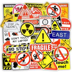 snowboardsticker, luggagesticker, warningsign, Tech & Gadgets