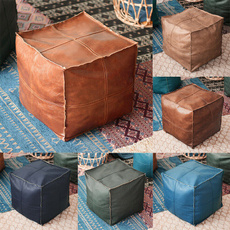 cushionstool, poufottoman, leather, Cover