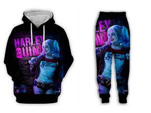3D hoodies, Fashion, harleyquinn, suicidesquadhoodie
