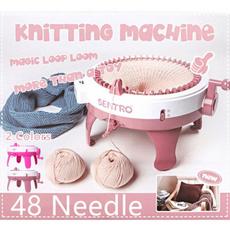 kids, scarf, knittingmachinetoy, Knitting