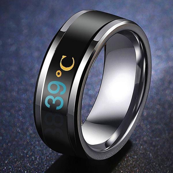 Steel, Couple Rings, Jewelry, Waterproof