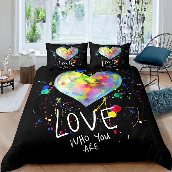 beddingkingsize, Heart, Love, rainbow