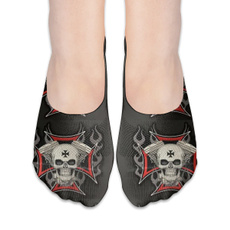 Lg, boatsock, skull, Socks