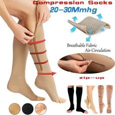 Socks, open toe, zippers, Zip
