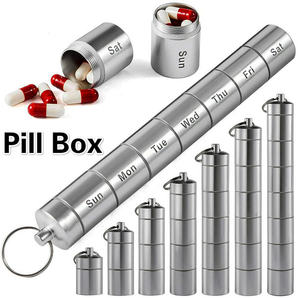 portablepillcase, case, pillbox, Key Chain