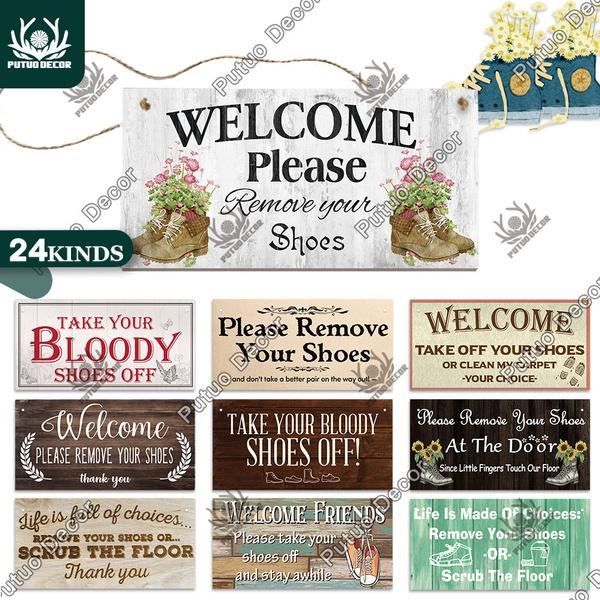 shoesoffsign, decoration, woodenplaque, doorsign