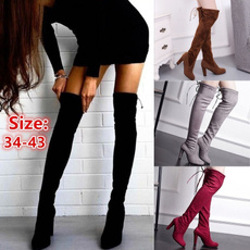 Plus Size, Womens Shoes, long boots, Knee High