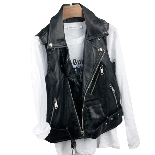 Women Vest, Fashion, leather, Slim Fit