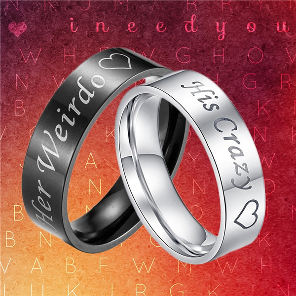 Couple Rings, Valentines Gifts, Stainless Steel, wedding ring