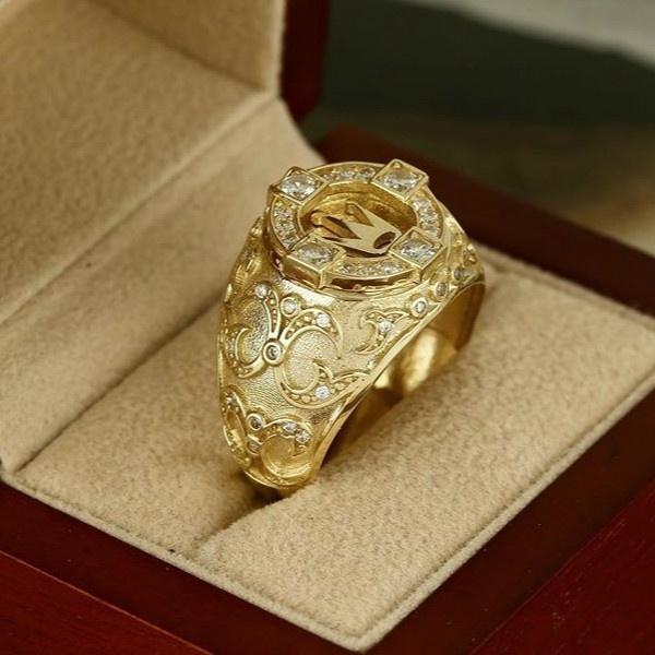 King, DIAMOND, wedding ring, gold