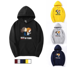 Funny, hooded, letter print, cute