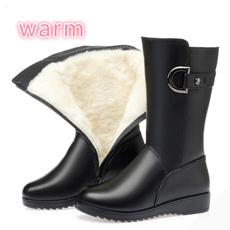 Knee High Boots, wintermartinboot, Medium, Cotton