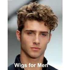 wig, manwig, hairstyle, Shorts