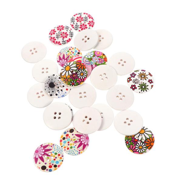 sewingbutton, Flowers, woodbutton, flowerbutton
