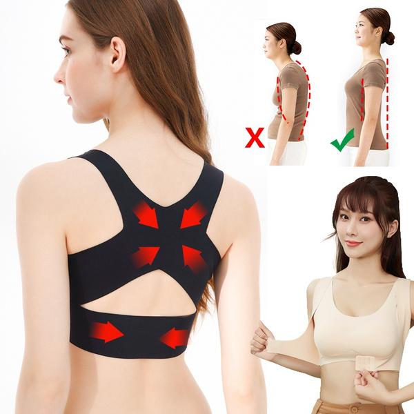 POSTURE CORRECTOR Bralette Front Closure Bras Cross Back Tank Tops Push Up Bra Women BRA Female Brassiere Underwear Fitness Vest
