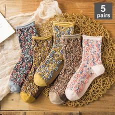 Cotton Socks, nationalwindsock, womensocksautumnwinter, socksforwomen