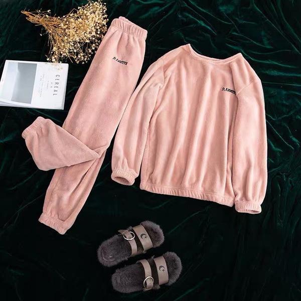 cutejumpsuit, homewearset, fur, Winter