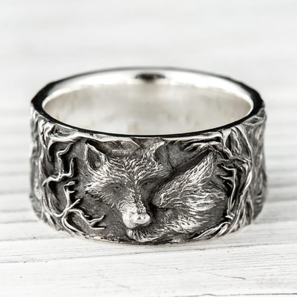 Steel, Stainless Steel, animalring, amuletjewelry