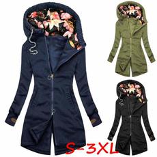 Fashion, sleevecoat, zipperjacket, Winter Coat Women