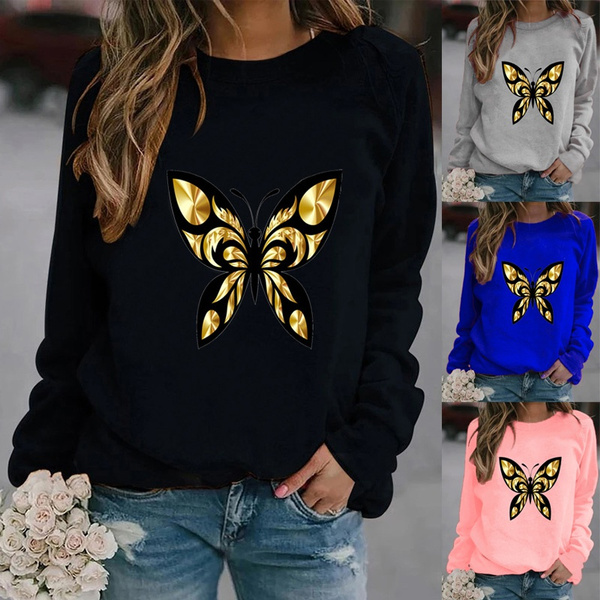 butterfly, Fashion, Long Sleeve, Women's Fashion