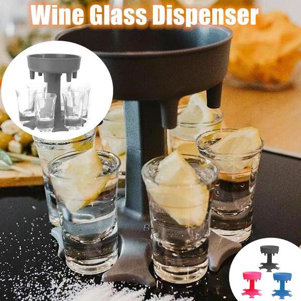 wineglassdispenser, wineglasse, partygame, 6shotglassdispenser