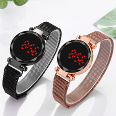 LED Watch, meshstrapwatch, wristbandwatch, led