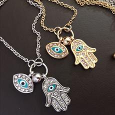 Chain Necklace, eye, Chain, evileyehamsahand