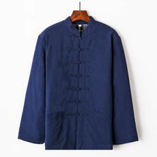 Fashion, cottonlinen, kungfushirt, chinesetraditionalclothing