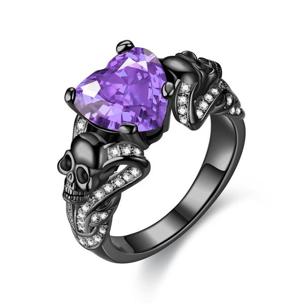 Heart, Jewelry, skull, CZ