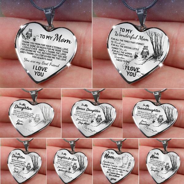 Heart, Jewelry, familygift, heart necklace