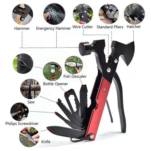 lifesavinghammer, Outdoor, campinggeartool, multifunctionalhammer