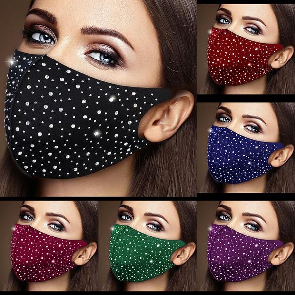 washable, Cotton, Bling, mouthmask