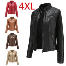 puleatherjacket, womenswintercoat, womensleatherjacket, standupcollarcoa