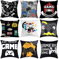 pillowcover18x18, Cushions, Video Games, bedroom
