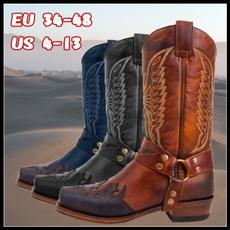 Plus Size, Invierno, Cowboy, leather