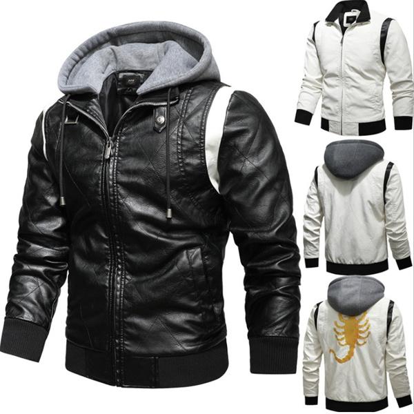 motorcyclejacket, Fashion, Winter, hoodedjacket