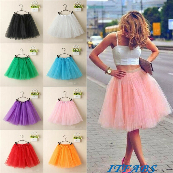 Mini, Colorful, fluffy skirts for women, Dress