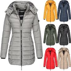 padded, Winter Coat Women, Winter, Long Coat