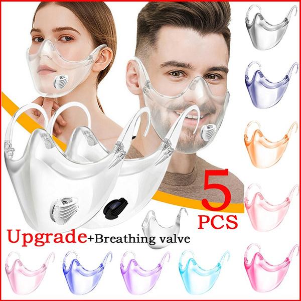 transparentmask, breathingvalve, Cover, unisex