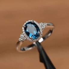 Blues, Engagement Wedding Ring Set, cubliczirconic, platinum plated gifts