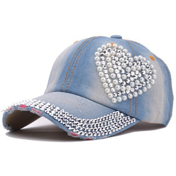 Baseball Hat, Heart, Bling, Hats