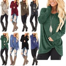 Autumn, Women Sweater, cotton-blend, Sleeve