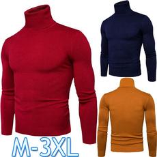 Plus Size, Winter, Simple, Casual sweater