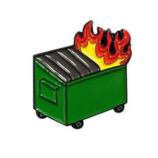 commiserate2020, dumpsterfireenamelpin, Pins, survivorgift